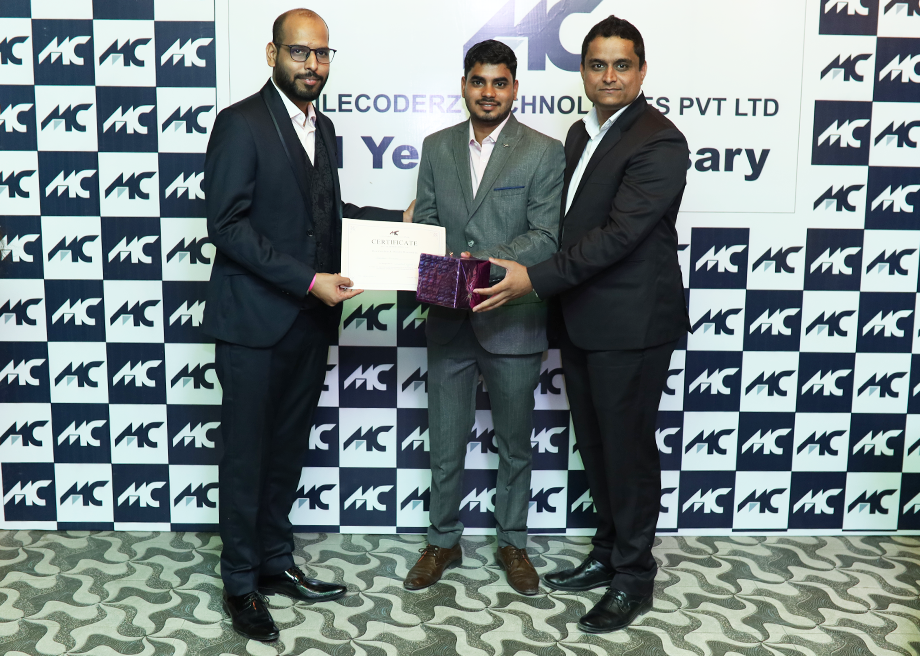 Chandan Kumar Receiving Award