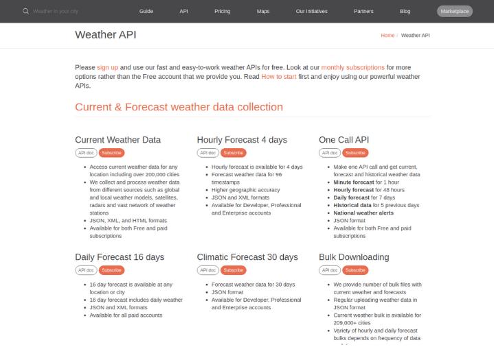 weather app development