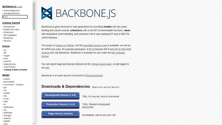 backbone full stack web development tool