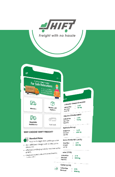 shift fright on demand logistic mobile app